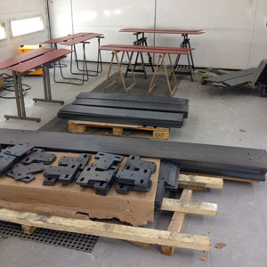 les pièces sont prêtes à être peinte dans notre cabine de laquage